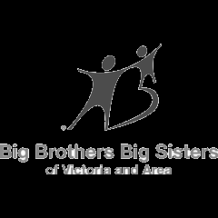 black and white Big Brothers Big Sisters of Victoria logo