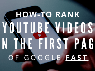 How-to rank Youtube videos on the first page of Google fast featured image with red icon.