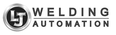 Black and white LJ Welding Automation rectangle logo