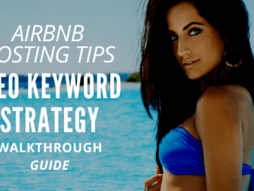 picture of woman airbnb host getting tips on keywords strategy using the guided walkthrough