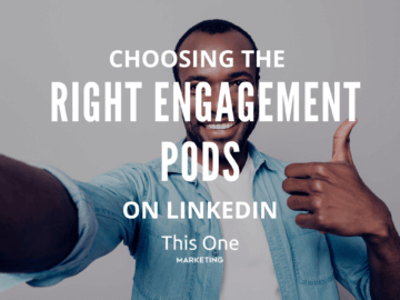 Black man smiling with thumbs up from choosing the right LinkedIn engagement pods.